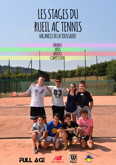RueilAC Stages tennis Toussaint2018